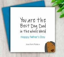 Tarjeta de día del padre de la tarjeta de perro, gato, Mascotas, abuelo, personalizado hecho a mano