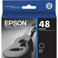 Genuine OEM Epson 48 NEW SEALED T048120 Black Ink Smart Cartridge 04/2018 Photo