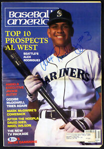 "Alex Rodriguez Autographed Baseball America Magazine ""#3"" Vintage Beckett Q03063"