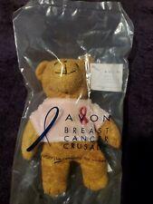New 7� Avon Breast Cancer Crusade Pink Ribbon Teddy Bear Beanie Stuffed 2001