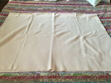 New listing Vintage Wool Blanket stitched trim Cream Color Size 76 x 56 Twin/Full