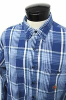 TWENTY 20X Wrangler blue plaid western thick dress shirt sz 17.5-35/36 mens#3308