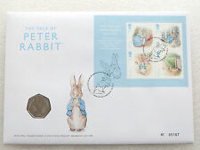 2016 Beatrix Potter Peter Rabbit 50p Fifty Pence Coin First Day Cover PNC