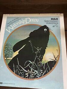 Watership Down RCA Videodisc CED