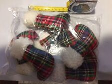 "6 XPET VOTOYS CAT HOLIDAY CHRISTMAS CATNIP 4"" STOCKING TOY LOT BULK WHOLESALE"