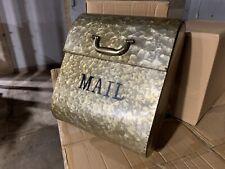 AdirHome Steel Medallion Gold Briefcase Shape Letter Box Mailbox