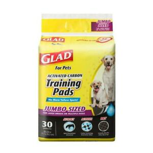 Glad for Pets JUMBO-SIZE Charcoal Puppy Pads | Black Training 30 Count,
