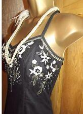 WALLIS ❤️ Size 12 Vintage 1920's Art Deco Beaded Flapper Gatsby Downton Dress