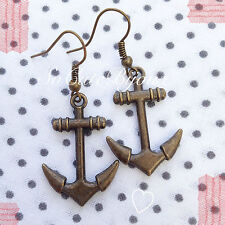 Orecchini Ancora Marina Mare Earrings Cute Vintage Hipster Indie Anchor Naval