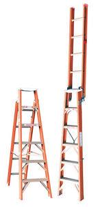 INDALEX Tradesman Fibreglass Dual Purpose Ladder 1.8m - 3.2m