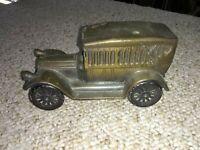 1970's VINTAGE 1917 Pierce Arrow Touring DIE~CAST METAL CAR COIN BANK (FC1-2)