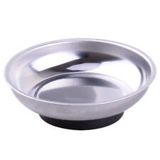 "4"" Magnetic Tray Stainless Steel Parts Holder Dish Bowl Machine Repair Storage"