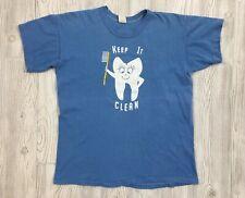 Vintage 70's Keep It Clean Tooth Graphic Russell Athletics T-Shirt Size XL