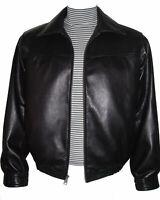 1023 Men New Black Soft Lamb Leather Bomber Jacket