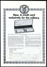 1969 Mps Military Purchase System credit card applcation vintage print ad