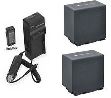 TWO 2 Batteries + Charger for Panasonic AG-AC90P AG-AC90PJ AG-AC90PX AG-AC90EJ