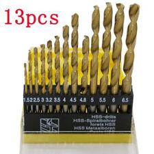 Molti 13pcs in Acciaio HSS Rivestito Titanio Set di Punte 1/4 Hex Gambo