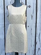 Mint Velvet Ivory Dress Size 14 lined in excellent condition #000