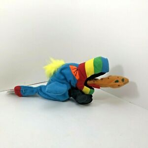 Vintage Meanies Series 1 Hurley The Toucan Bean Bag Plush New with Tags