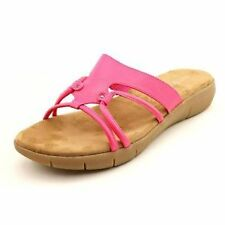 Women's Synthetic Leather Slip On and Mule Sandals