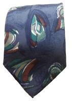 Andre Gianni Men's Silk Blue Geometric Designer Dress Suit Necktie Tie, NWOT