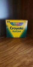 Vintage 1990 Box Of 64 Crayola Crayons Includes Built-In Sharpener