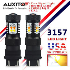 AUXITO 3157 LED Switchback Dual Color White Amber Turn Signal Light DRL Parking