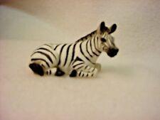 ZEBRA Figurine TiNY ANIMAL Statue HAND PAINTED MINIATURE Mini Collectible Safari
