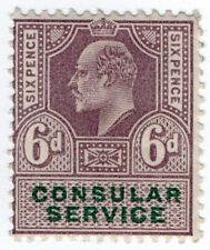 (I.B) Edward VII Revenue : Consular Service 6d