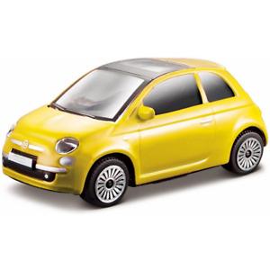 BURAGO 30184Y 1:43 FIAT 500 2008 YELLOW DIE CAST TOY CAR NEW