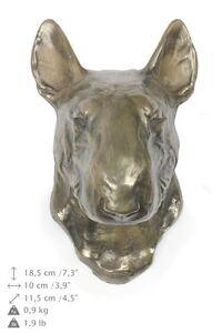 Bull Terrier, Statuette hängen an einer Wand, Bronze, Art Dog, DE