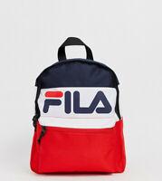 Fila MYNA Mini Small Backpack Rucksack School retro Peacoat Navy Blue Red 90s OS