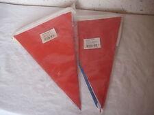 Lot de 2 Guirlandes Bannières de 10 m avec drapeaux pointus bleu blanc rouge