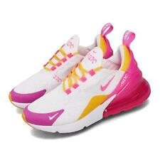Nike Wmns Air Max 270 White Fuchsia Gold Women Running Casual Shoes CI1963-166