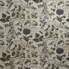 30 Yards French Floral Scripture  Botanica Feathers  Upholstery Fabric