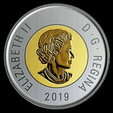 2019 Canada Bimetallic toonie coin Specimen finish coin only: from set -IN STOCK