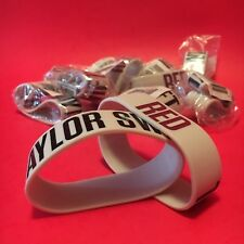 (10) official TAYLOR SWIFT-RED rubber bracelets wristbands--FASHION--sealed NEW