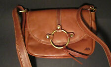 Leder Tasche Handtasche Umhängetasche Bag Cognac Braun