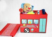 Kids Storage Toy Bin Folding Ottoman Storage Organizer