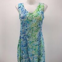 Blue Ginger Blue Short Sleeve Dress Small