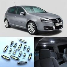 14Pcs White Interior LED Light Kit For 2006-2009 VW Golf MK5 GTI Rabbit City PL