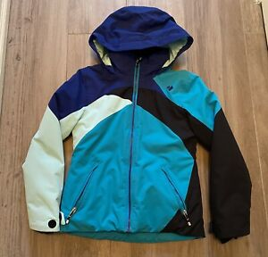 Obermeyer Girls Winter Ski Coat Jacket Blue Green Black S Small 8