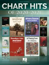 Chart Hits of 2020-2021 Sheet Music 20 Top Singles Easy Piano Songbook 000364319