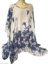 Mehrfarbige hüftlange Damenblusen, - tops & -shirts in Übergröße