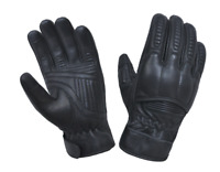 Men's Black Leather Motorcycle Gloves With DuPont™ Kevlar™ lined palm 8169