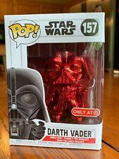 3 LOT Funko Pop Star Wars Trooper 184 BB Unit 211 Red Chrome Darth Vader 157