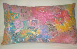 "Abstract Fabric Lumbar Accent Decorative Throw Pillow Cover 12""x20"""