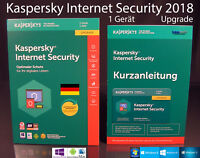 Kaspersky Internet Security 2018 Upgrade Box 1 Gerät (PC/Mac/Android) OVP NEU
