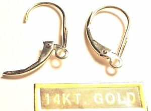 14kt White Gold Dangling Lever BACKS Pair.....100% GUARANTEED ..FREE SHIPPING!