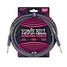 Ernie Ball 6ft Straight-Straight Speaker Cable, Black P/N P06072